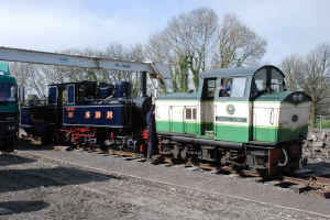 Mallet_SB8-4-11Dinas north yard with Conway Castle.jpg (98573 bytes)